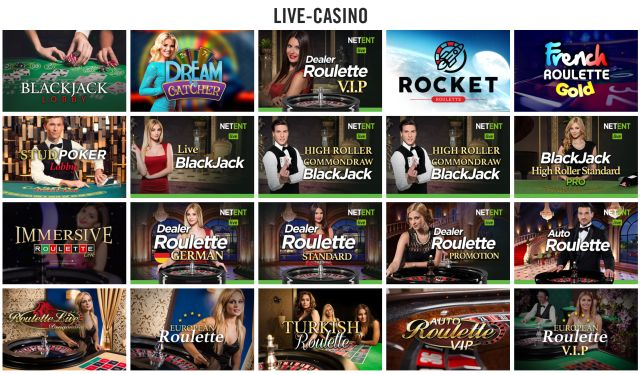 Live Casino bei Vegas Hero